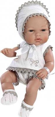 Купить Пупс Arias в бело-бежевом костюмчике со стразами Swarowski 33 см Т59284, винил, Классические куклы и пупсы