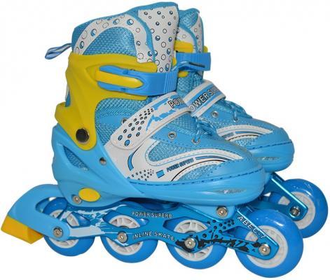 Коньки роликовые Navigator колёса ПВХ, переднее колесо со светом, L (38-41), голуб. роликовые коньки disney dcy31129