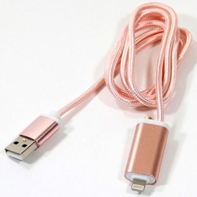 Переходник Telecom Lightning для наушников 3.5 мм и зарядки USB розовый TA12858-P