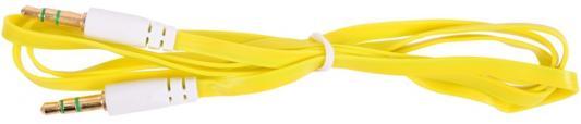 Кабель соединительный 0.75м Belsis 3.5 Jack - 3.5 Jack плоский желтый BL1102