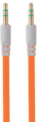 Кабель соединительный 0.75м Belsis 3.5 Jack - 3.5 Jack плоский оранжевый BL1101