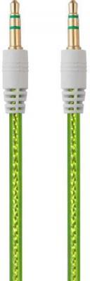 Кабель соединительный 0.75м Belsis 3.5 Jack - 3.5 Jack прозрачный зеленый BL1105 акустический кабель 2х2 5мм2 14 ga прозрачный belsis bw7707 soft