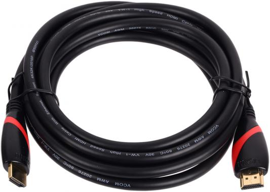 Кабель HDMI 3.0м VCOM Telecom ver 2.0 CG525R-3M кабель hdmi 1 8м vcom telecom cg526s 1 8mb
