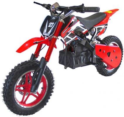 Мотоцикл дет. электр.,TopGear Junior Кросс, 120x82,5x92,36В/12Ач 800Вт, пластик, красный двухколесные самокаты topgear junior т59740