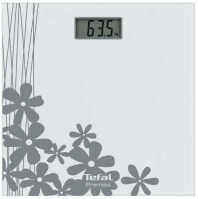 Весы напольные Tefal Premiss Flower White PP1070 серый рисунок