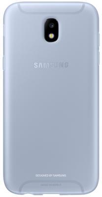 Чехол Samsung EF-AJ530TLEGRU для Samsung Galaxy J5 2017 Jelly Cover голубой чехол samsung ef pj530cpegru для samsung galaxy j5 2017 dual layer cover розовый