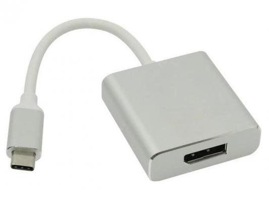 Фото - Переходник DisplayPort 0.15м VCOM Telecom CU422M круглый серебристый переходник displayport dvi vcom telecom ca332 черный