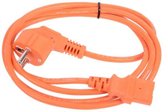 Кабель питания 1.8м VCOM Telecom CE021-CU0.75-1.8M-O оранжевый