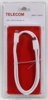 Кабель Type-C 1м VCOM Telecom TC400_B круглый белый bron кабель bron type c 1м белый