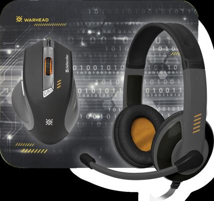 Мышь проводная Defender Warhead MPH-1500 чёрный USB игровые наушники defender warhead g 110 64102