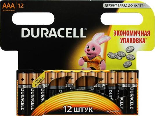 Батарейки Duracell Basic MN2400 -12BL AAA 12 шт duracell mn2400 4шт
