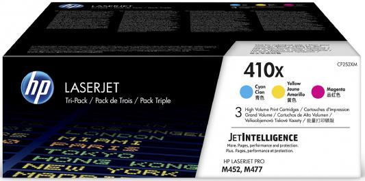 Картридж HP 410X CF252XM для HP Color LaserJet Pro M452dn M452nw M377dw M477fdn M477fdw M477Fnw цветной тройная упаковка cf389a hp color laserjet pro m452dn cf389a