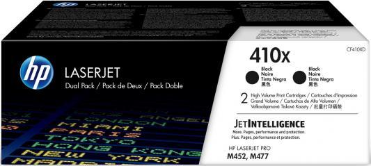 Картридж HP 410X CF410XD для HP Color LaserJet Pro M452/477 черный 6500стр картридж t2 для hp tc h85a laserjet p1102 1102w pro m1132 m1212nf m1214nfh canon i sensys lbp6000 cartrige 725 1600 стр с чипом