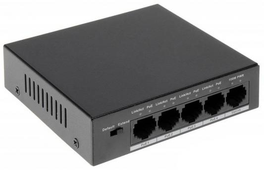 Коммутатор Dahua DH-PFS3005-4P-58 4 порта PoE