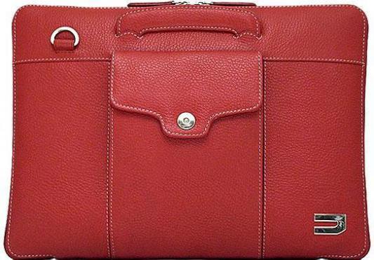"""Сумка для ноутбука MacBook Pro 13"""" Urbano Compact Brief кожа красный цена и фото"""