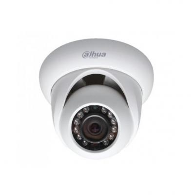 "Камера IP Dahua DH-IPC-HDW1020SP-0280B-S3 типа шар, 1/4"" 1Мп CMOS, фиксированный объектив 2,8мм, 0.5/0лк ИК (F2.5) , H.264+/H.264, 25fps@720P, DWDR, ИК 30м, Audio -/-, Alarm -/-, DC12V/PoE, -40C~+60C, IP67 dahua 4pcs 4mp poe ip camera dh ipc hfw4421s system security camera outdoor 8ch 1080p nvr4108 8p kit h 264 video recorder"