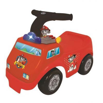 Каталка-пушкар Kiddieland Пожарная машина Щенячий патруль красный от 1 года пластик каталка на палочке s s toys вертолет желтый от 1 года пластик