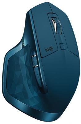 Мышь беспроводная Logitech MX Master 2S синий USB + Bluetooth 910-005140 мышь logitech mx master stone beidge usb bluetooth 910 004958