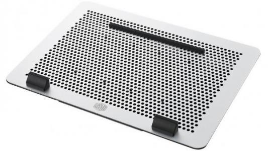 Подставка для ноутбука до 17 Cooler Master MasterNotepal Maker MNZ-SMTE-20FY-R1 алюминий/пластик 2000об/мин 27.24db серебристо-черный подставка для ноутбука до 15 6 cooler master notepal x slim ii r9 nbc xs2k gp пластик металл 900об мин 23db черный