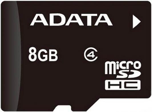 Карта памяти Micro SDHC 8GB Class 4 A-Data AUSDH8GCL4-B от 123.ru