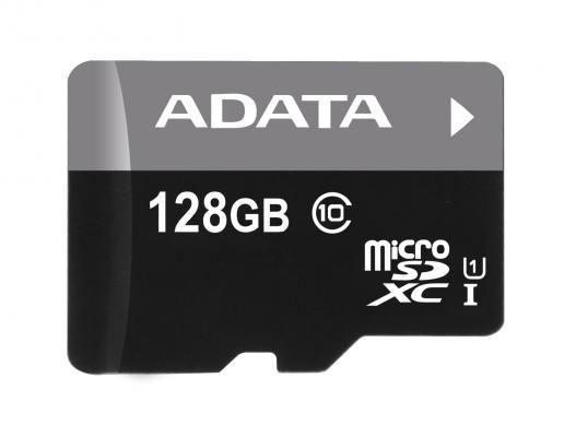 Карта памяти Micro SDXC 128Gb Class 10 A-Data AUSDX128GUICL10 85-R