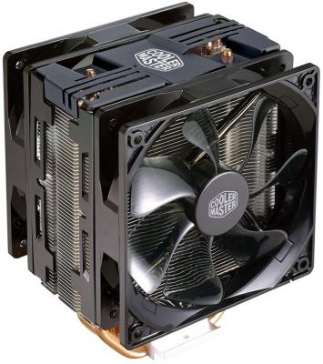 Кулер для процессора Cooler Master CPU Cooler Hyper 212 Turbo Black LED Socket 2066/2011-3/2011/1366/1156/1155/1151/1150/775 RR-212TK-16PR-R1 desktop cpu cooler fan bracket heatsink holder base for lga2011 socket
