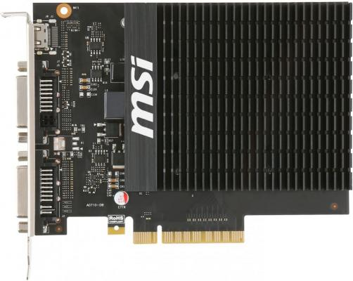 Видеокарта 2048Mb MSI GeForce GT710 PCI-E GDDR3 64bit DVI VGA GT 710 2GD3H H2D Retail