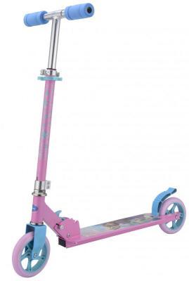 Купить Самокат 1TOY Холодное сердце Т59576 6 розово-синий, Двухколесные самокаты для детей