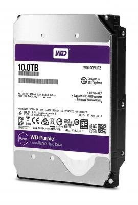 Жесткий диск 3.5 10Tb 5400rpm Western Digital WD Purple SATAIII WD100PURZ жесткий диск 4tb western digital purple wd40purz