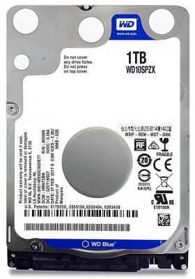 Жесткий диск для ноутбука 2.5 1Tb 5400rpm 16Mb cache Western Digital Blue SATAIII WD10SPZX жесткий диск 3 5 8 tb 5400rpm 128mb cache western digital purple sataiii wd80purz
