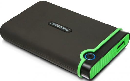 Внешний жесткий диск 2.5 USB 3.0 1 Tb Transcend StoreJet 25M3 TS1TSJ25M3E черный/зеленый