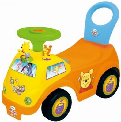 Каталка-машинка Kiddieland Винни желтый от 1 года пластик каталка на палочке s s toys вертолет желтый от 1 года пластик