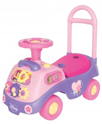 Каталка-пушкар Kiddieland Принцесса с шестеренками розовый от 1 года пластик каталка пушкар kiddieland минни 2 в 1 пластик от 1 года на колесах розовый 0661148537102