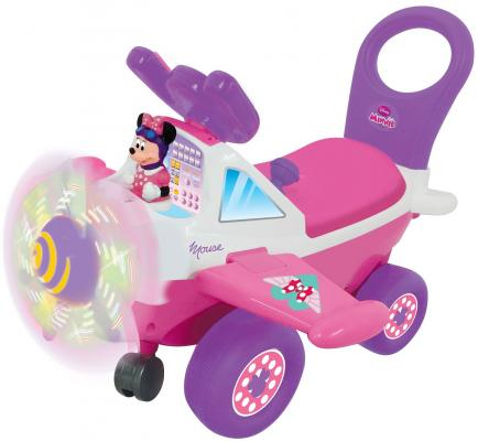 Каталка-пушкар Kiddieland Самолет Минни розовый от 10 месяцев пластик каталка пушкар kiddieland минни 2 в 1 пластик от 1 года на колесах розовый 0661148537102