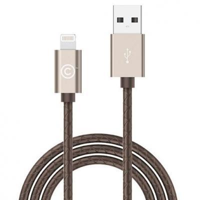 Кабель Lightning 1.8м LAB.C Leather Cable A.L круглый золотистый LABC-511-GD