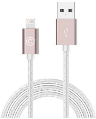 Кабель Lightning 1.8м LAB.C Leather Cable A.L круглый розовый LABC-511-RG кабель lab c usb lightning 1 2м серый labc 505 gy n