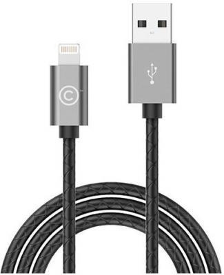 Кабель Lightning 1.8м LAB.C Leather Cable A.L круглый серый LABC-511-GR кабель lab c usb lightning 1 2м серый labc 505 gy n