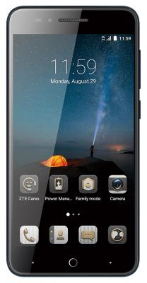 Смартфон ZTE Blade A610c синий 5 16 Гб LTE Wi-Fi GPS 3G смартфон zte blade a210 серый 4 5 8 гб lte wi fi gps 3g