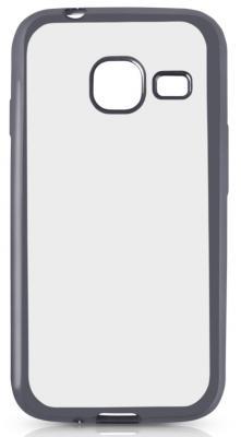 Чехол силиконовый DF sCase-26 с рамкой для Samsung Galaxy J1 mini 2016 серый космос аксессуар чехол samsung galaxy j1 mini 2016 df scase 26 rose gold