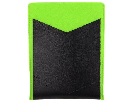 """Чехол IQ Format универсальный для планшетов 8"""" зеленый/черный цена и фото"""