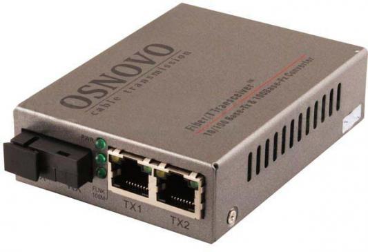 Медиаконвертер Osnovo OMC-100-21S5a