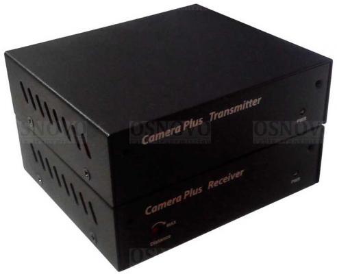Удлинитель композитного видеосигнала и RS485 Osnovo M1DE+DM1DE по одному коасиальному кабелю