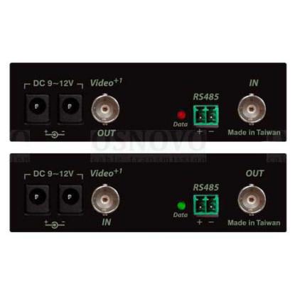 Удлинитель композитного видеосигнала и RS485 Osnovo M1DE+DM1DE по одному коасиальному кабелю от 123.ru