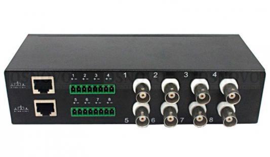 Пассивный 8-канальный приемопередатчик Osnovo TP-H8 приемопередатчик видеосигналов osnovo tp c32 32 канальный по витой паре 600 м