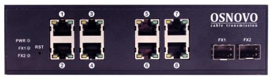 Коммутатор Osnovo SW-70800/I неуправляемый 8 портов 10/100/1000Mbps коммутатор osnovo sw 10800 i ver 2 неуправляемый 8 портов 10 100mbps