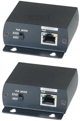 Комплект SC&T IP01P для передачи сигнала Ethernet и питания PoE по коаксиальному кабелю RG6 до 300м игрушка головоломка для собак i p t s smarty 30x19x2 5см