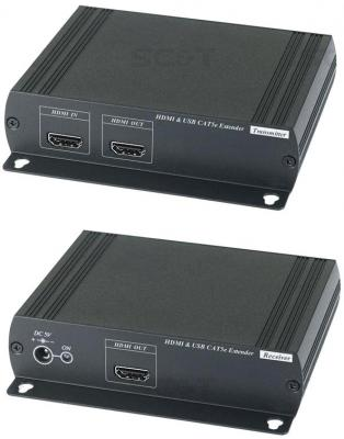 Удлинитель SC&T HKM01E HDMI KVM по Ethernet до 120м mirabox 60m hdmi kvm extender with poe supports av lossless no latency 1080p transmission kvm transmitter and receiver