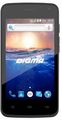 Смартфон Digma Q400 3G черный 4 4 Гб Wi-Fi GPS 3G HT4023PG digma vox s502 3g