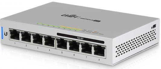 Коммутатор Ubiquiti UniFi Switch 8 60W управляемый UniFi 8 портов 10/100/1000Mbps PoE(60W) US-8-60W-EU 100 8 mcr100 8 sot89 1a600v