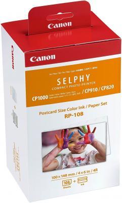 Набор Canon RP-108 бумага и цветные красители для SELPHY CP1200 108стр 8568B001